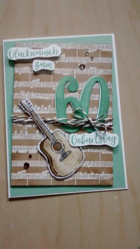 Geburtstagskarte basteln gitarre